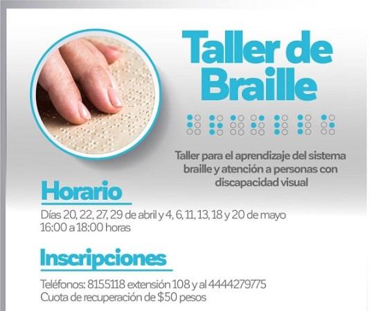 DIF de la capital impartirá curso de lectura braille