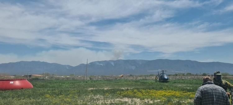 Autoridades de los tres niveles de gobierno y voluntarios atienden incendio en Guadalcázar