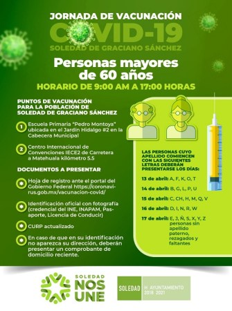 Ayuntamiento de Soledad se reporta listo para la jornada de vacunación COVID-19