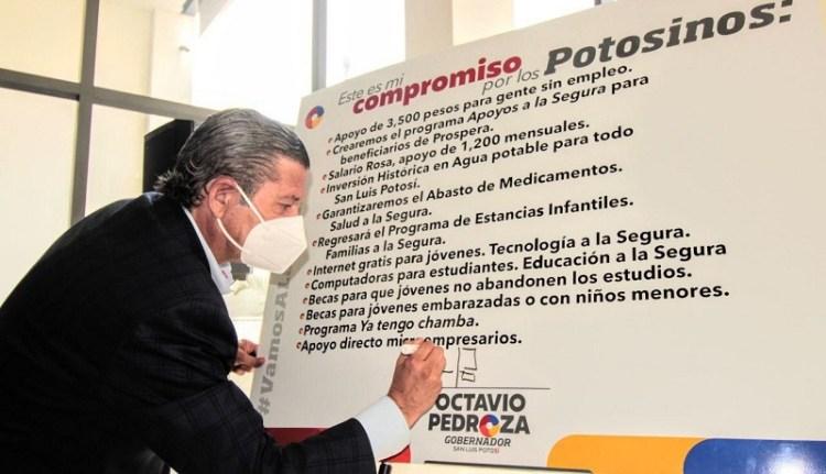 Seguro de desempleo, salario rosa, internet gratuito y becas a estudiantes, implementará Octavio Pedroza
