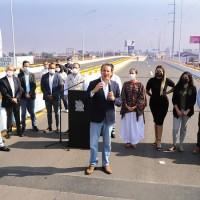 """Xavier Nava inauguró el puente integral superior vehicular """"Rocha Cordero"""""""