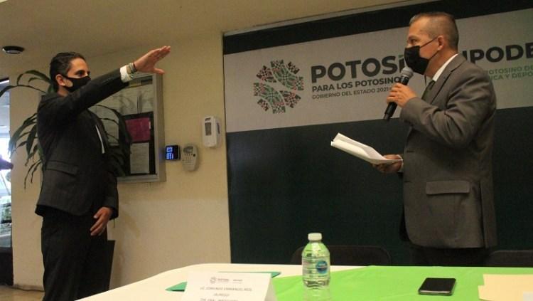 Edmundo Ríos toma protesta como Director del INPODE