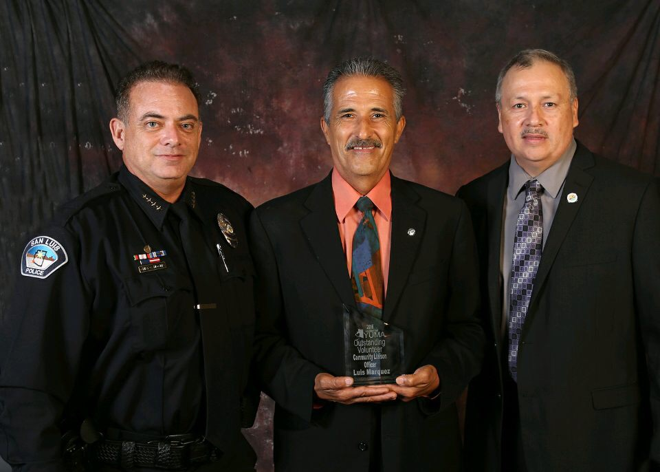 Chief Higgins, Officer Marquez, and Mayor Sanchez