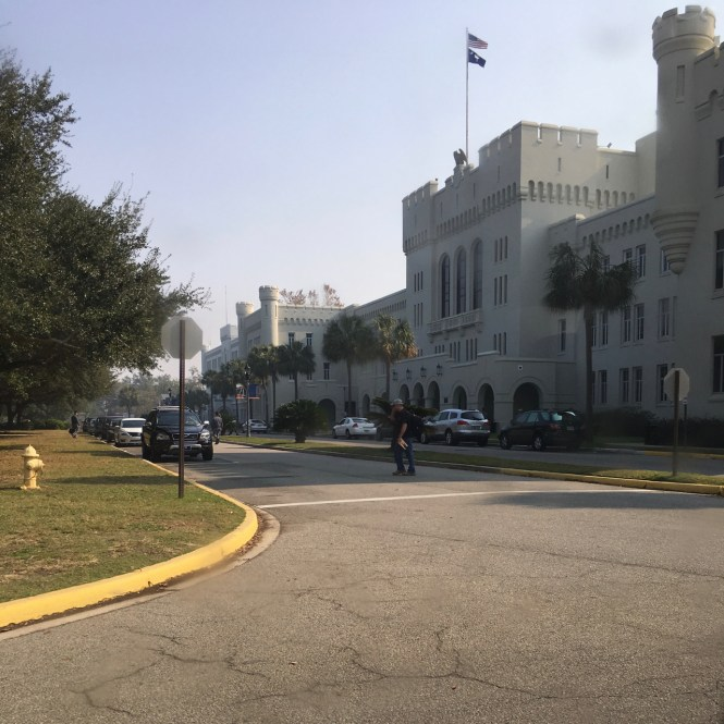 A quick drive through the Citadel campus. Top things to do in Charleston.