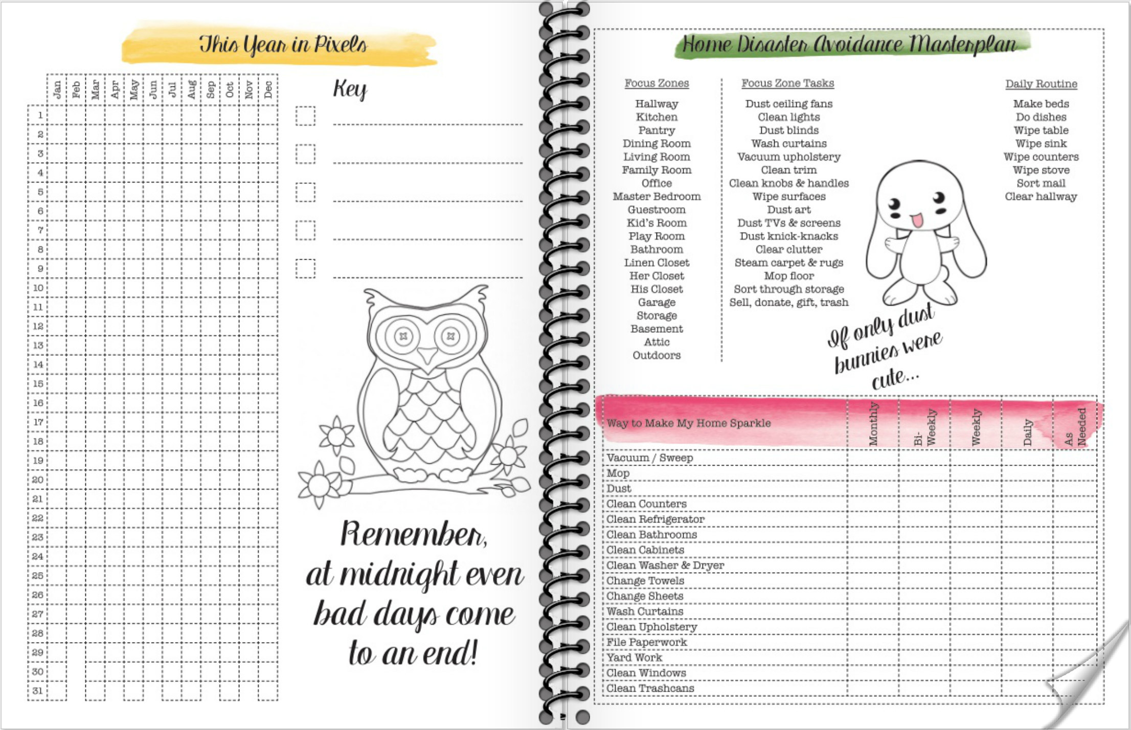 Free Printable 2018 Monthly And Weekly Planner Sannipanni