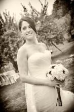 Novia con traje de boda