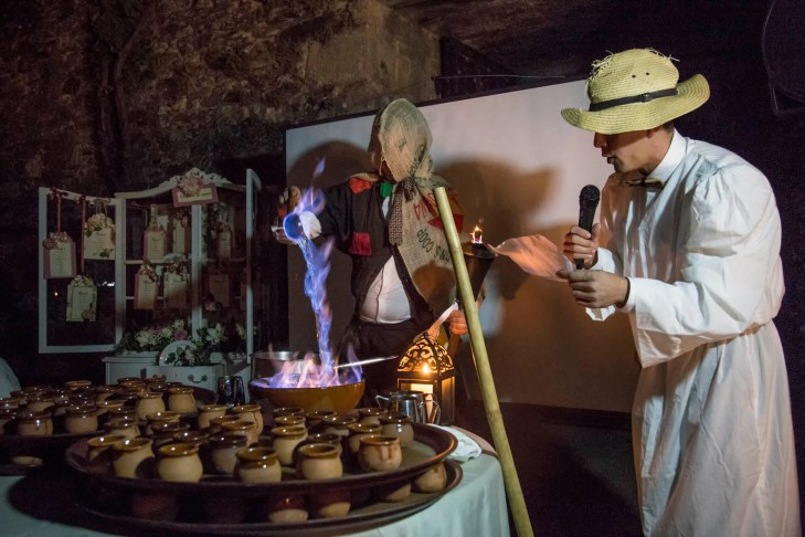 Queimada en boda gallega