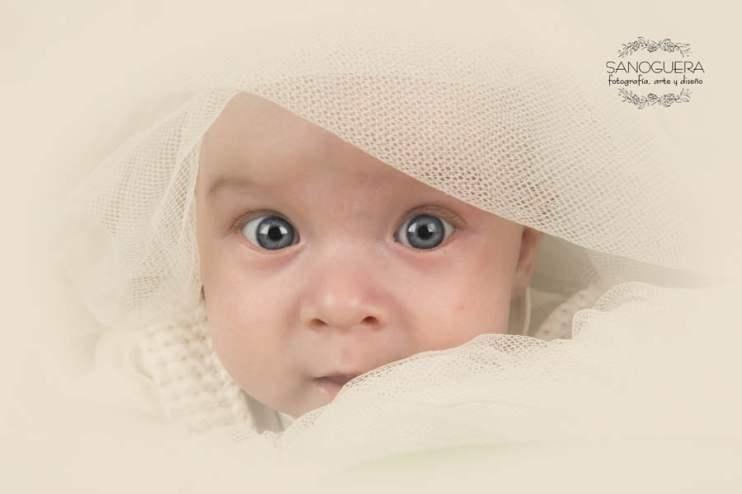 Retrato bebe bautizo