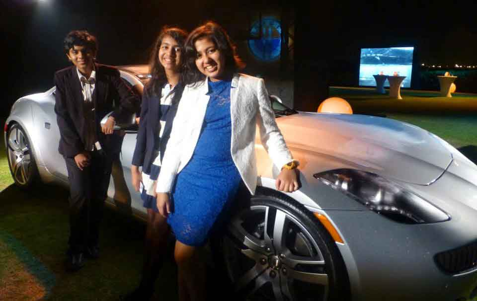 Kehkashan invited at the Launch of Fisker Karma: World's First Luxury Green Car