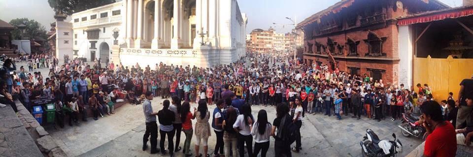 Flash Mob At Basantapaur Kathmandu