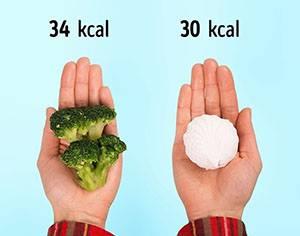 """100 г броколи = 1 бяла ружа """"marshmallow"""""""