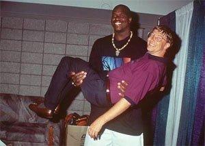 Шакил О'Нийл и Бил Гейтс, 1999