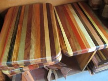 Cutting boards at Graniels Dreamland Belize