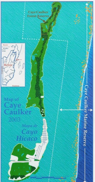 caye caulker map