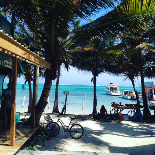 View at Estel's on The Sea.  San Pedro, Belize.