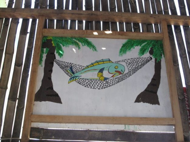 lazy-fish-sign-punta-gorda-belize