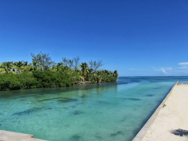 View from the bridge Ambergris Caye, Belize