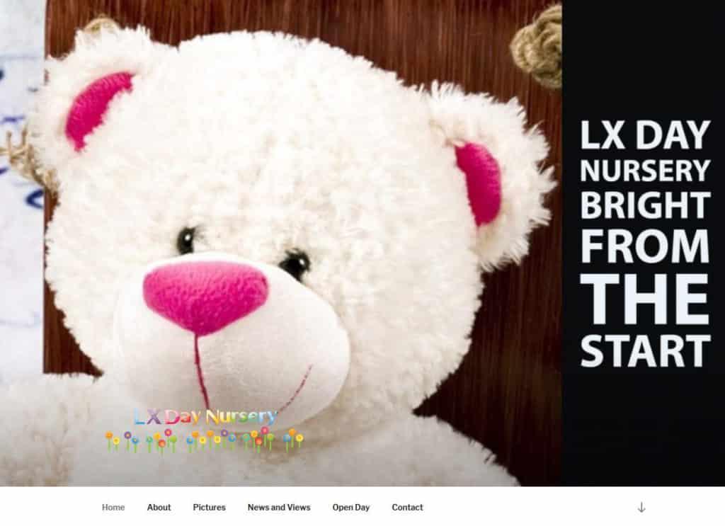 LX Day Nursery website