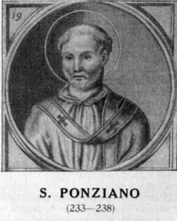sveti Poncijan - papež in mučenec