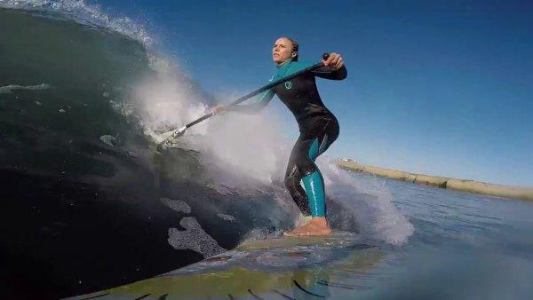 Stand Up Padding - SUP - at Solo Sports at Punta San Carlos Surf Camp in Baja California, Mexico