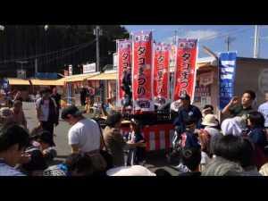 第39回「志津川湾タコまつり福興市」 タコ神輿&餅まき