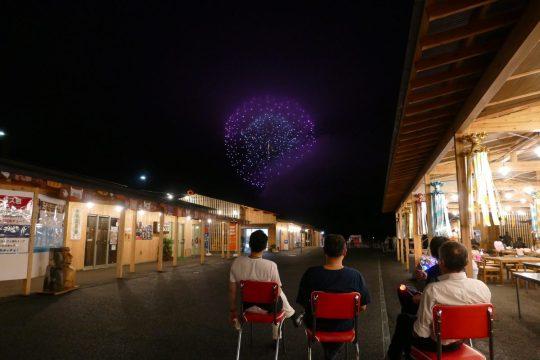 『志津川湾夏まつり福興市』花火スポットの穴場?さんさん商店街からも花火が綺麗に見えました!