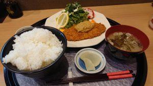 海鮮も美味いが味噌かつも美味い!自家製味噌だれ使用!しお彩の『味噌かつ御膳』!