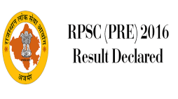 RPSC 2016 Prelims Result and RAS Cut Off