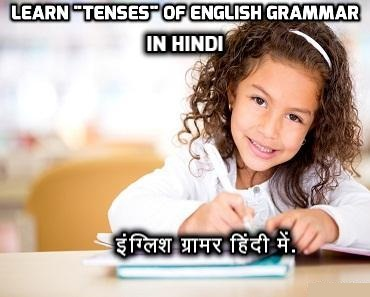 Hindi Explanation of Tenses in English Grammar