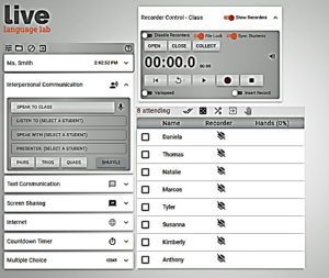 LIVE Language Lab On-Demand Teacher Interface