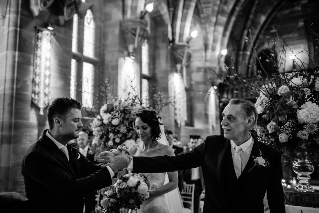 Ant & Louise NYE Peckforton Castle Wedding- Sansom Photography-111