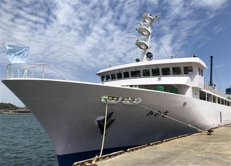 STU48握手会イベントで発表された劇場使用船の外観