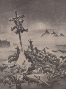 (1943) Seguido por los lobos