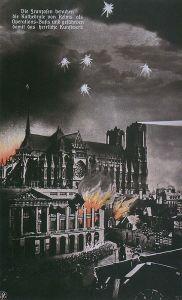 Fig. 3 [Postal alemana de 1917. Los franceses utilizan la catedral de Reims como base de operaciones y con ello ponen en peligro esta magnífica obra de arte]