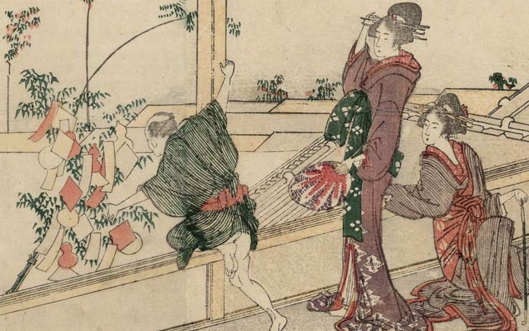 El festival de Tanabata en Hokusai y Yoshitoshi