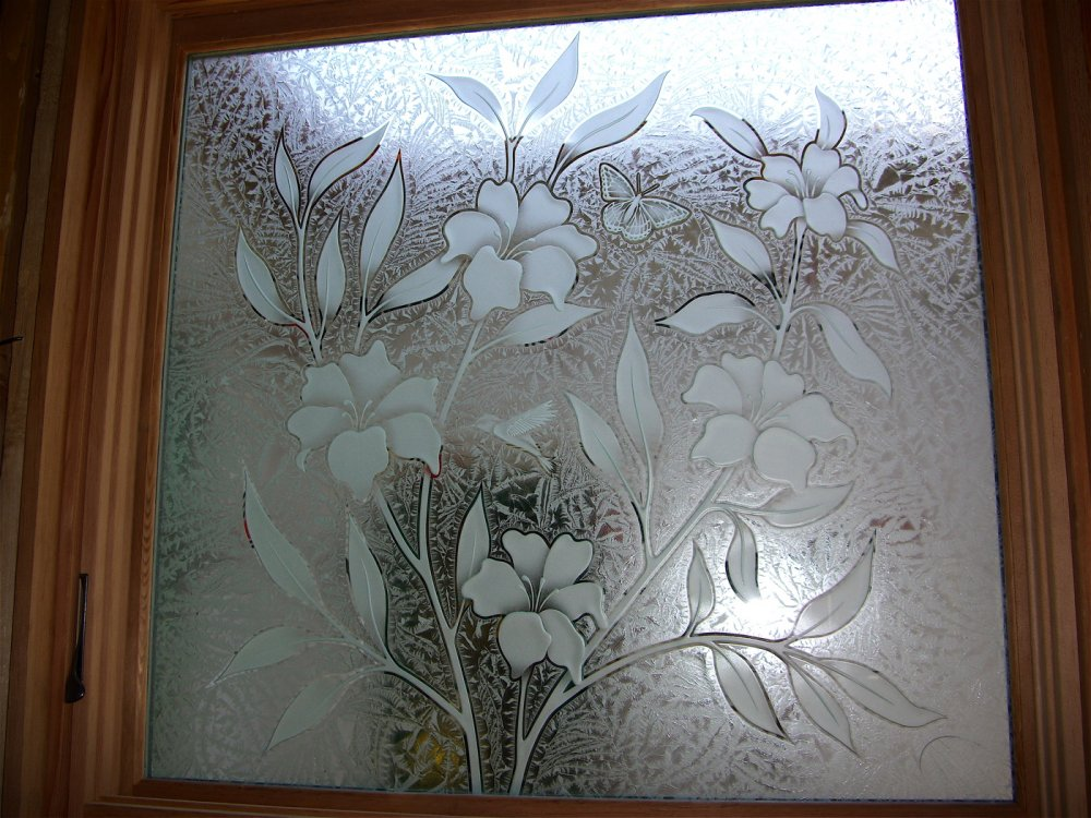 Etched Glass Windows Provide Great Privacy Sans Soucie Art Glass