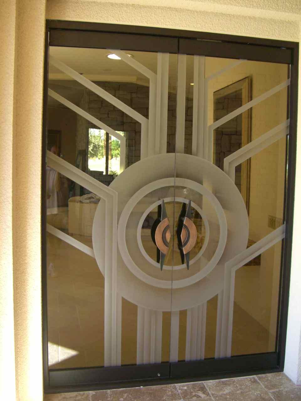 Contemporary All Glass Doors Create A Sleek Entrance