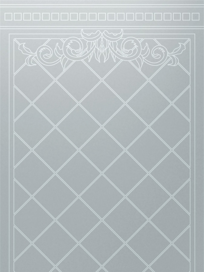 Filigree Lattice Victorian Style Interior Etched Glass Doors