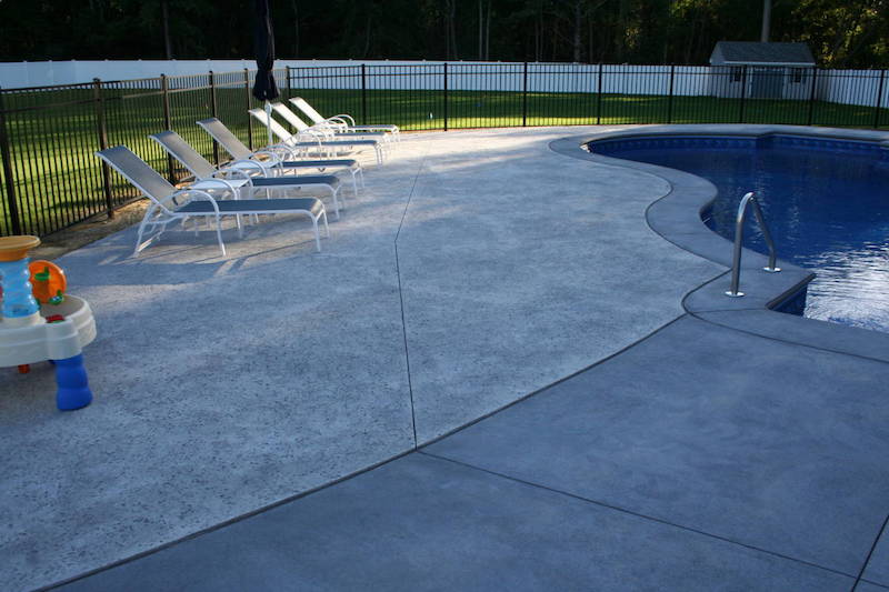201711 stamped concrete pool patio