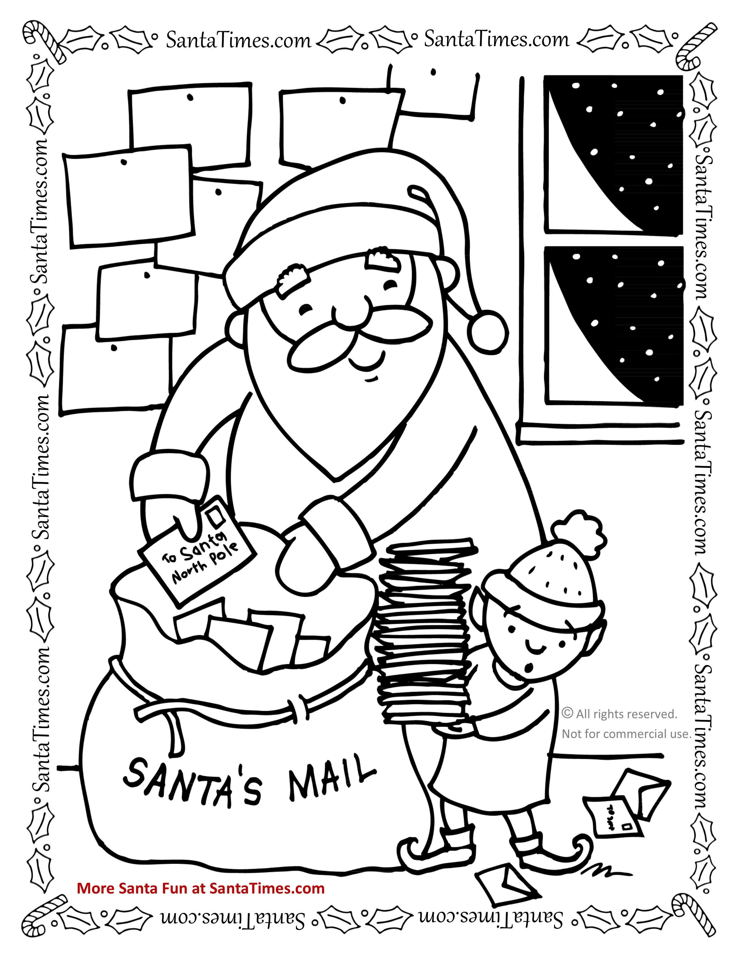 Santa S Mail Bag Coloring Page