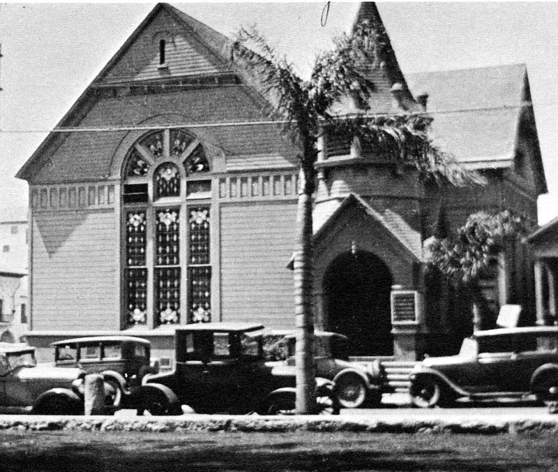 Second Building of First Congregational Church of Santa Barbara at Anacapa and Figueroa, 1889-1907
