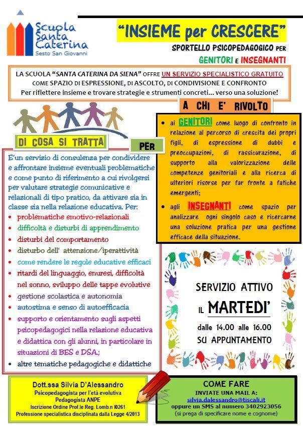 Insieme per Crescere: Sportello psicopedagogico per Genitori ed Insegnanti