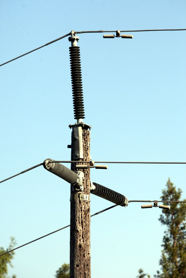 A rural electrician claims a worn power pole is an imminent