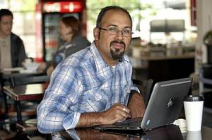 Jacob Martinez founded nonprofit Digital NEST to give Watsonville youth a shot at the tech economy, offering a place to learn and work out ideas. (photo credit: Dan Coyro)