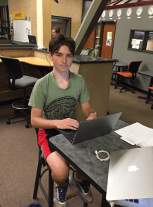 Ethan Elshyeb, age 14, taught himself to program at age 11 and is working as a programmer at passQi this summer. (Contributed)