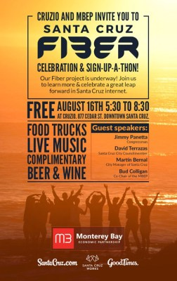 Community invited to attend Santa Cruz Fiber launch event at Cruzio on August 16