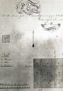 Plano realizado por el agrimensor francés  Francisco Descartes.