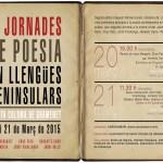 II Jornades de Poesía en Llengües Peninsulars