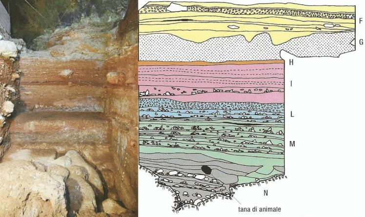 Stratigrafia bassa della grotta- Periodo Musteriano