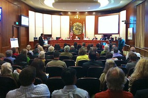A recent City Council Meeting where the Bergamot Plan was voted on ended after 2 am.